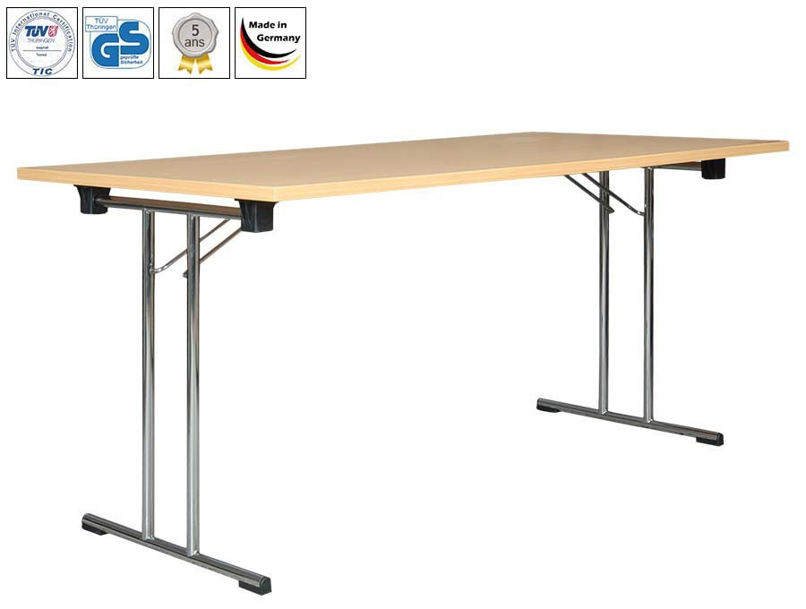 Tables pliantes Standard, Premium ou Exclusive | Érable - Chromé