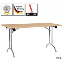 Table pliante Exclusive Swing avec plateau HPL