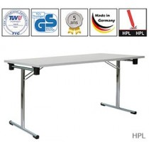 Table pliante Exclusive Single avec plateau HPL