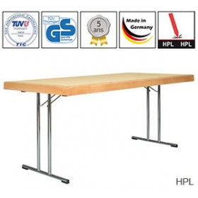 Table pliante Tom avec plateau HPL