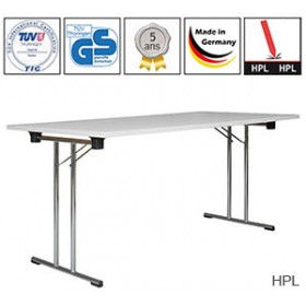 Table pliante Exclusive avec plateau HPL